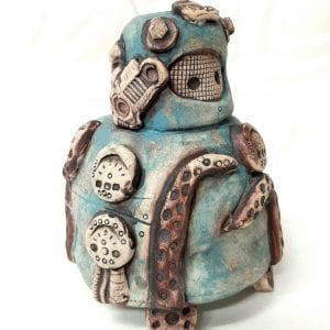 cephalo-cog robot sculpture
